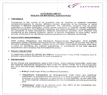 Policy for determining material Subsidiary Companies